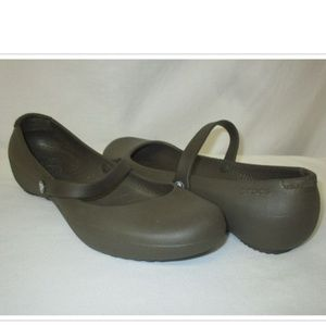 CROCS Alice Work Mary Janes Ballet Flats Shoes